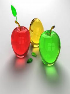 Samsung Corby s3650 Beautiful Wallpaper - Glass Apple