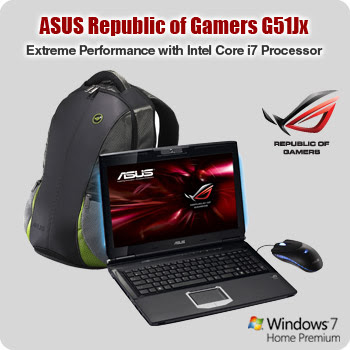 ASUS Republic of Gamers G51JX-A1 specification and price info