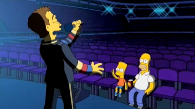 Chris Martin y Coldplay en los Simpsons