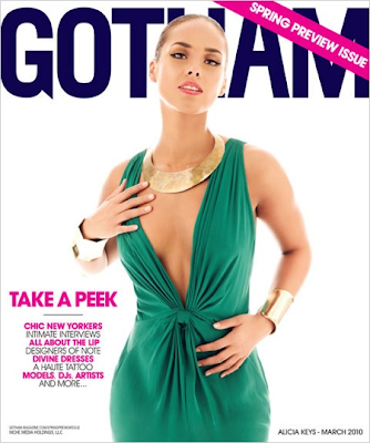 Alicia Keys en la Portada de Gotham (Marzo 2010)