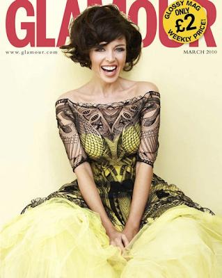 Dannii Minogue en la portada de la Revista Glamour UK (Marzo 2010)