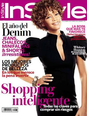 Whitney Houston en la Portada de la Revista de InStyle España (Febrero 2010)