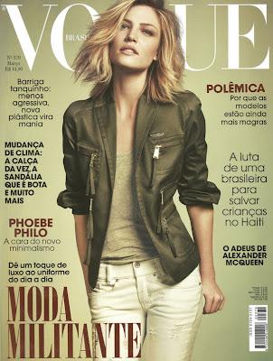 Barbara Berger en la portada de Vogue Brazil (Marzo 2010)