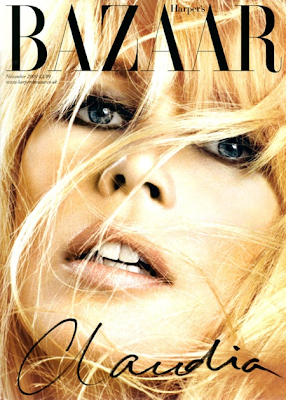 Claudia Schiffer en la portada de Harpers Bazaar UK Noviembre 2009