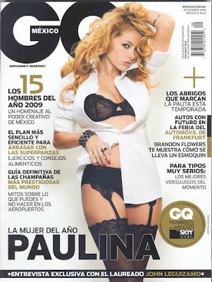 Paulina Rubio en GQ (Noviembre 2009)