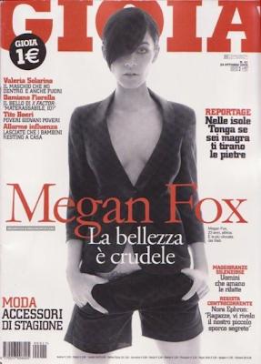 Megan Fox en la portada de la Revista Gioia