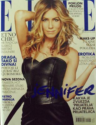 Jennifer Aniston en la Portada de Elle Croatia (Octubre 2009)