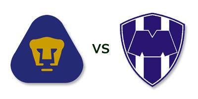 Pumas UNAM vs Monterrey en VIVO