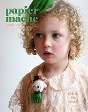 My Doli Little one on the cover of Papier Mache -issue 2