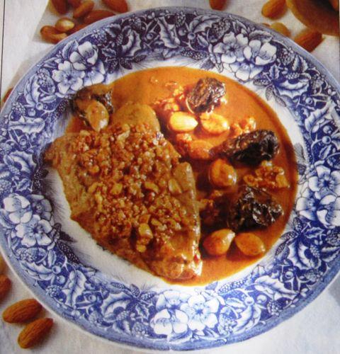 Cocinar por placer filetes de ternera con almendras y for Cocinar filetes de ternera