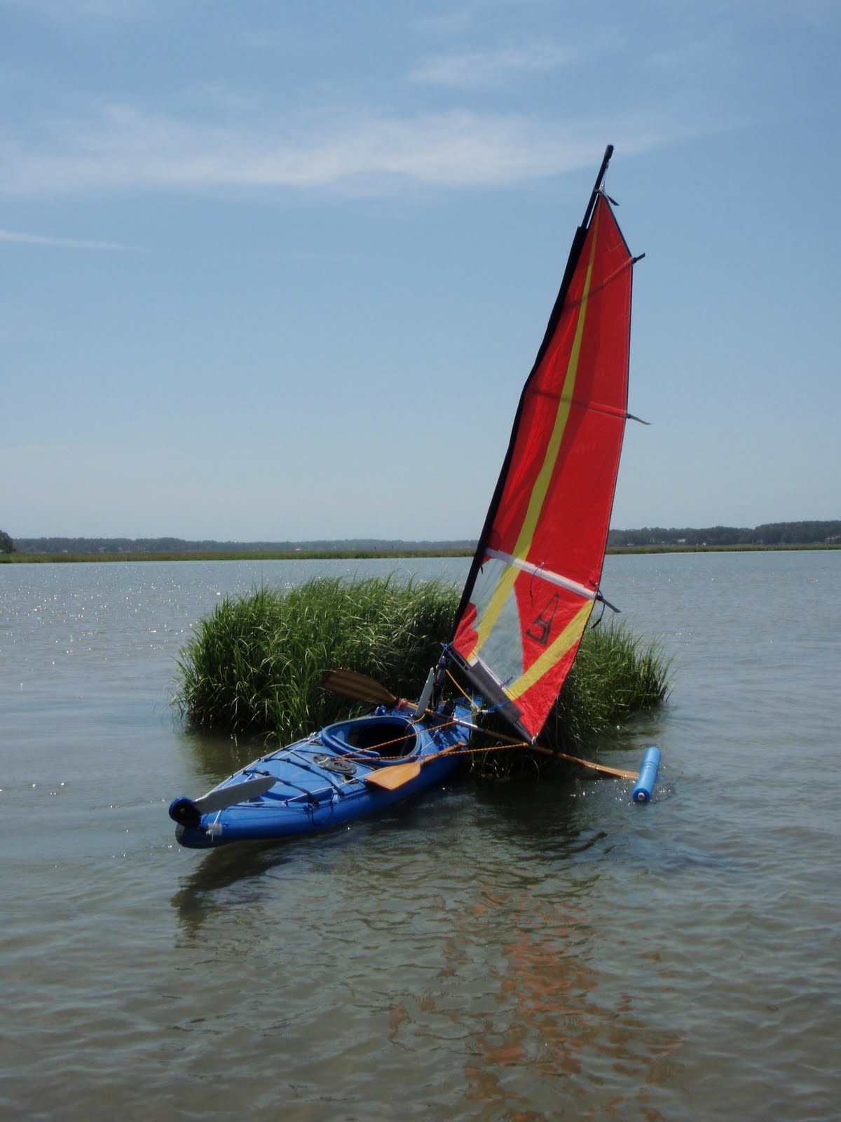 New Kayak Outrigger Test Run