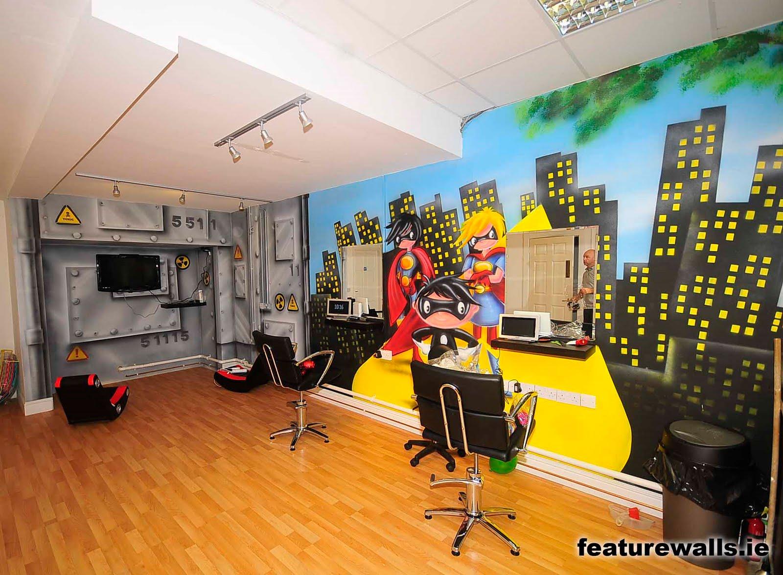 Mural Painting Professionals featurewalls.ie: New Kids hair salon ...