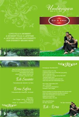 Download undangan pernikahan format corel draw gratis siap edit, contoh koleksi desain undangan pernikahan komplit model terbaru undangan pernikahan islami