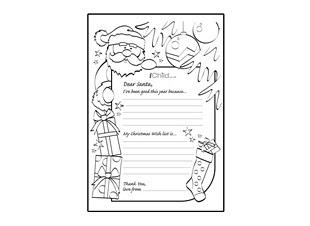 Santa letter writing paper template spiritdancerdesigns Gallery