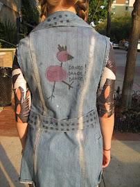 """""""dance, dance dance"""" custom vest"""