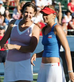 Lindsay Davenport and Daniela Hantuchova