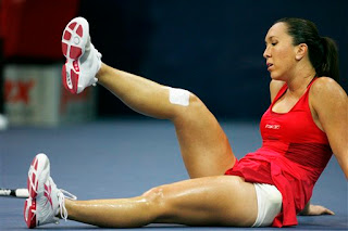Jelena Jankovic Down and Out