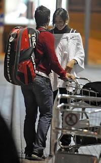 Verdasco and Ivanovic at the airport