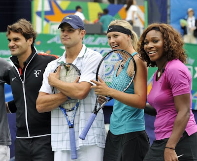 Federer, Roddick, Sharapova and Serena
