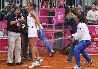 Pennetta enjoys Fed Cup win