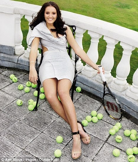 KickServe: Laura Robson battles against tennis sluts in Vogue  Laura
