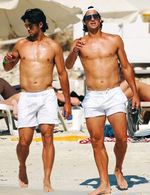 Fernando Verdasco and Feliciano Lopez hit the beach