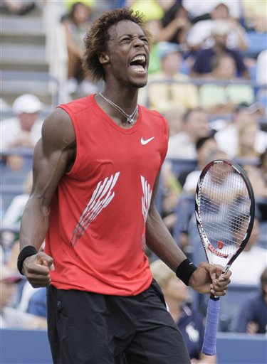 gael monfils shirtless. Monfils looking better and
