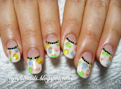Round Nail Designs http://cynfulnails.com/2010/01/kawaii-nails.html