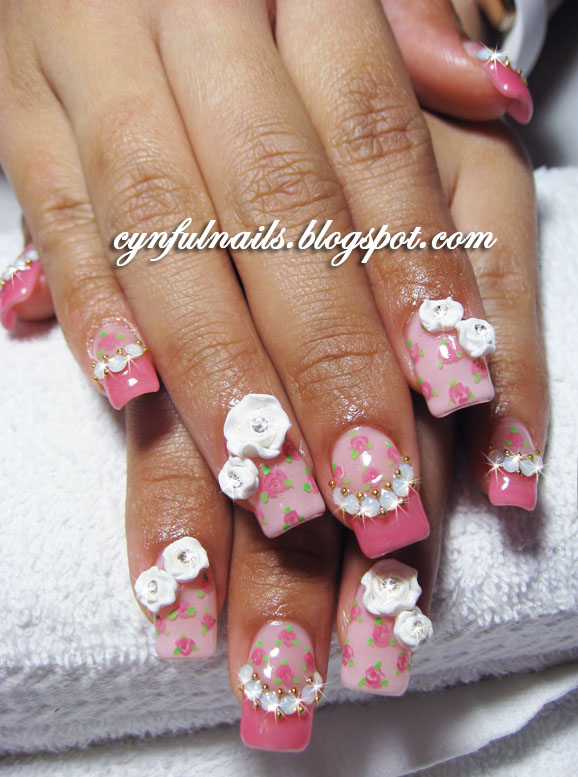 flower designs for nails. Floral designs are so IN now!