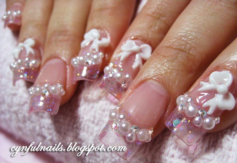 Chic acrylic nail styles moreover nails nail design feather nails