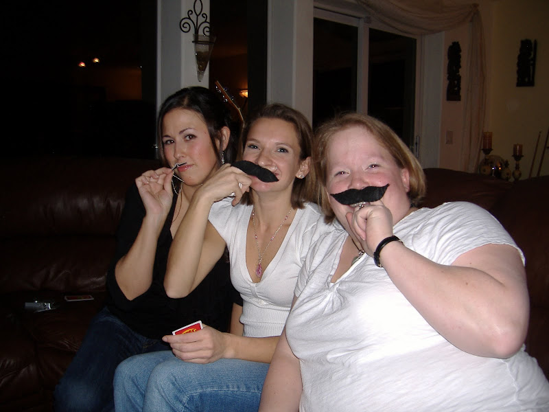 'Stache Bash girls with 'staches