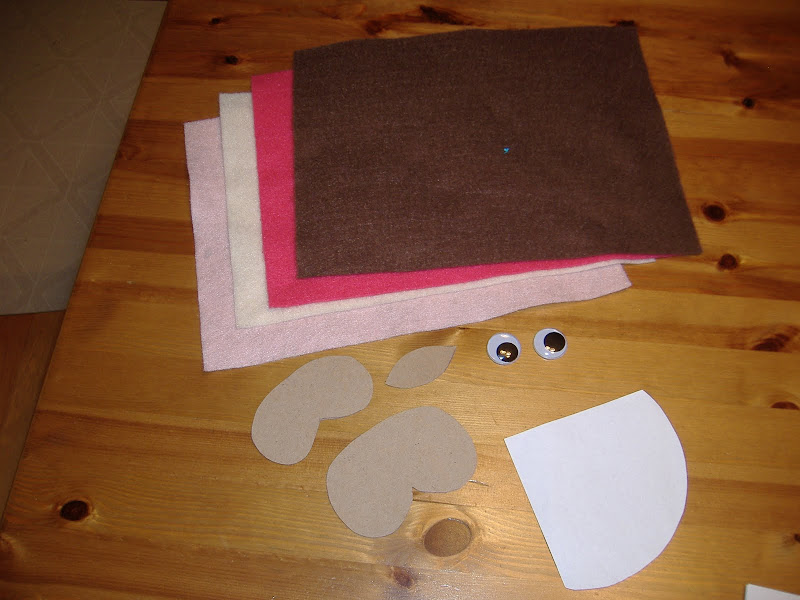 felt owl supplies