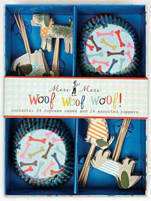 Meri Meri dog cupcake set