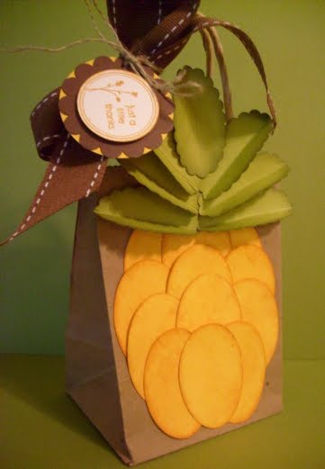 Pineapple craft bag