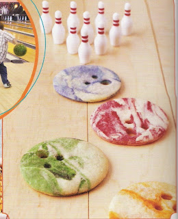 sugar bowling cookies