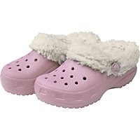 faux fur Crocs