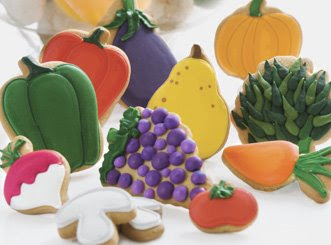 Fruit and veggie cookies