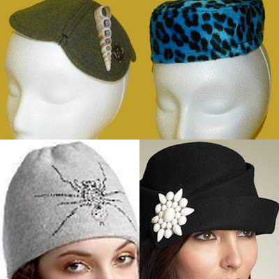 women's hat collage