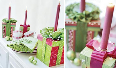 Pink Christmas boxes