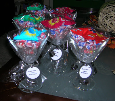 martini glass favors