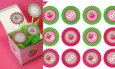 strawberry party collage