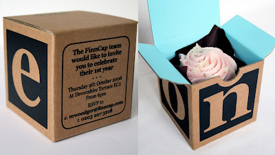 cupcake in a box invite