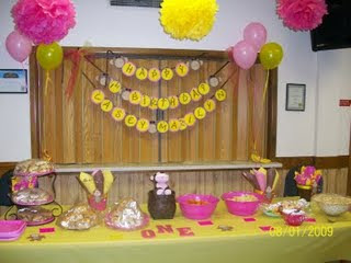 Little monkey party table