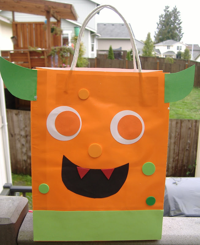 Monster Mash Bash trick or treat bag
