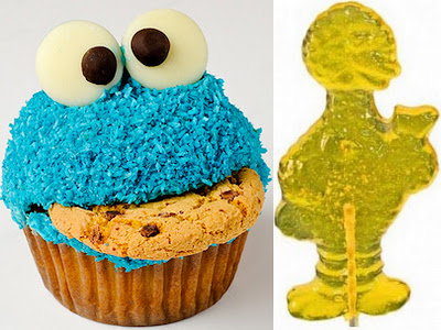 Cookie Monster/Big Bird treats