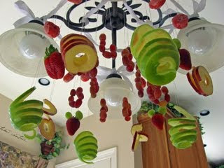 fruit chandelier