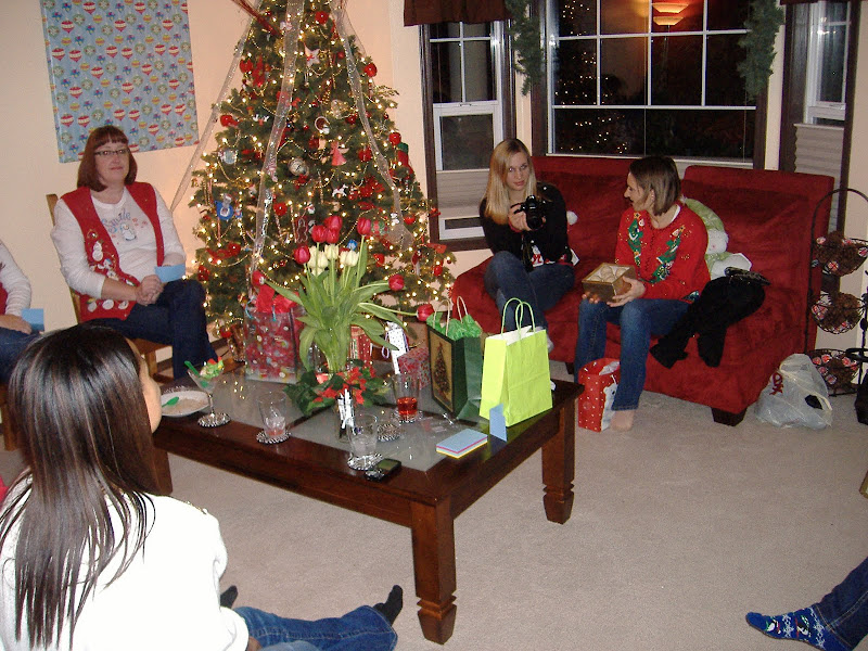 Ugly Sweater Christmas Party room