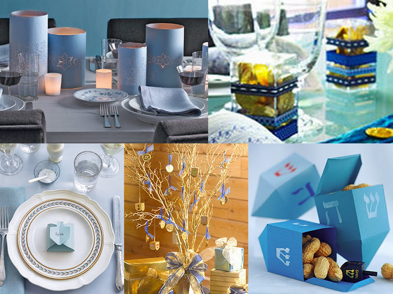 Hanukkah tabletop collage