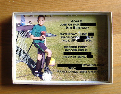 box soccer invites