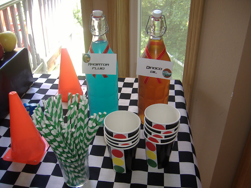 cars party drink bottles